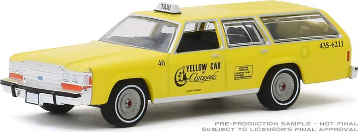 30122 - 1:64 1988 Ford LTD Crown Victoria Wagon - Yellow Cab of Coronado, California