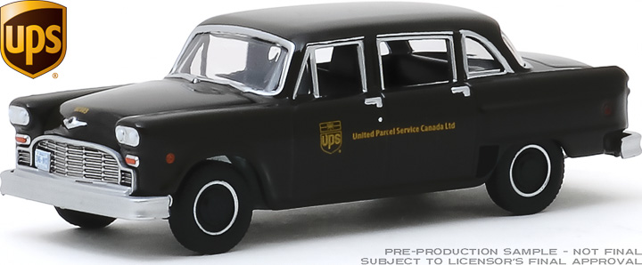 30128 - 1:64 1975 Checker Taxicab Parcel Delivery - United Parcel Service (UPS) Canada Ltd