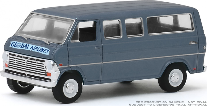 30129 - 1:64 1969 Ford Club Wagon - Global Airlines