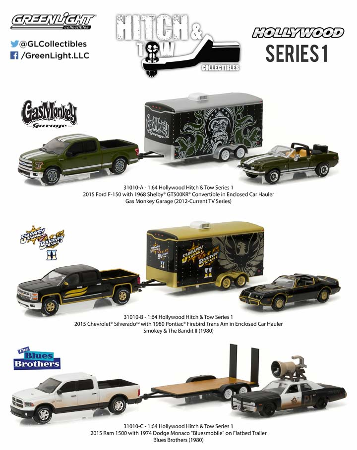 1:64 Hollywood Hitch and Tow Series 1