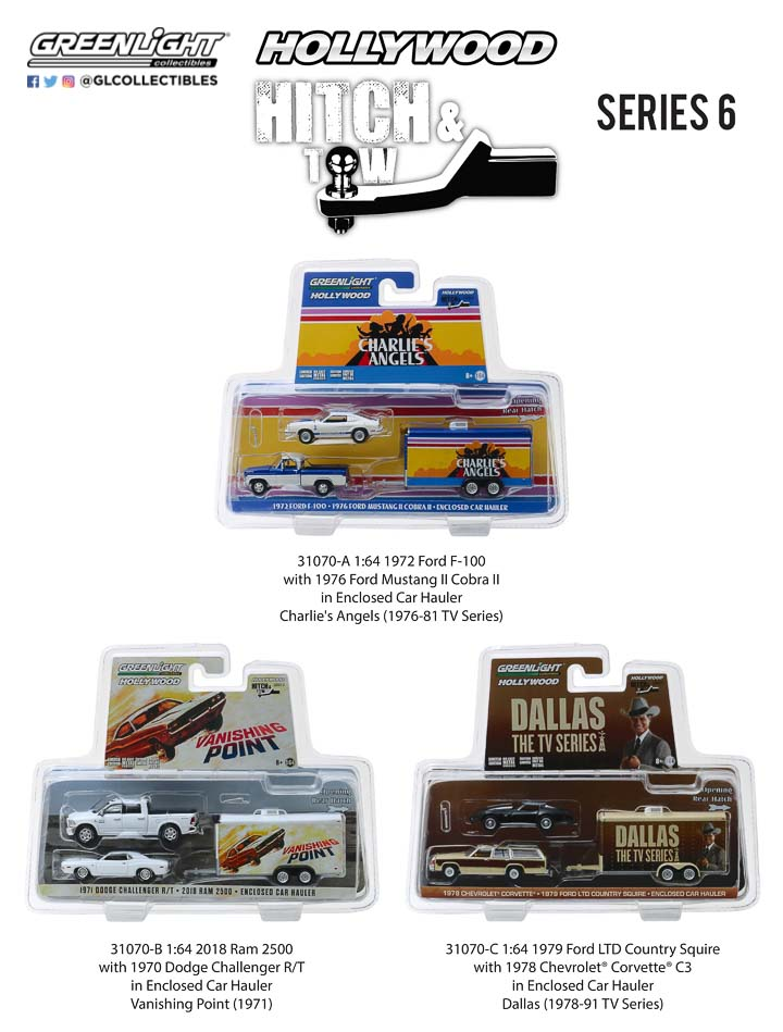 1:64 Hollywood Hitch and Tow Series 6