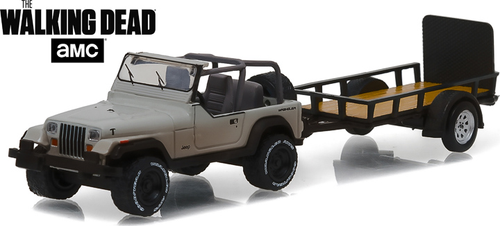 32080-B - 1:64 Hitch & Tow Series 8 - The Walking Dead (2010-Current TV Series) – Michonne's Jeep Wrangler YJ and Utility Trailer