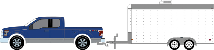 32091 - Hitch & Tow 2015 Ford F-150 and White Car Hauler