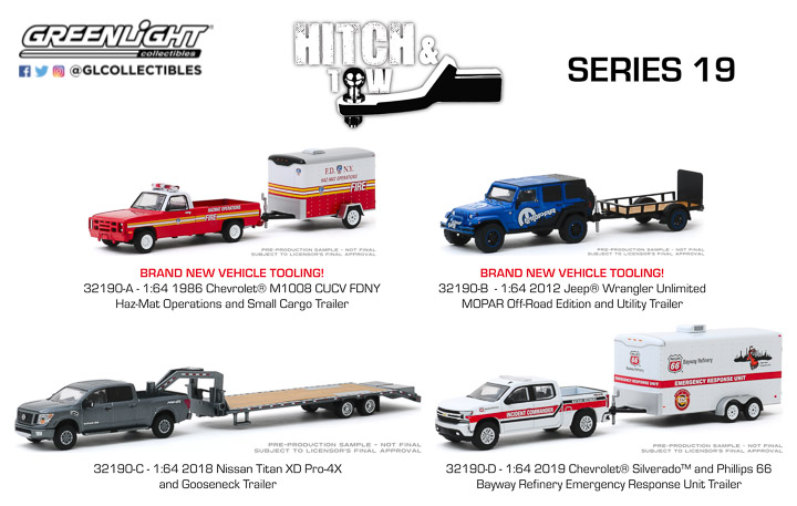 32190 - 1:64 Hitch & Tow Series 19