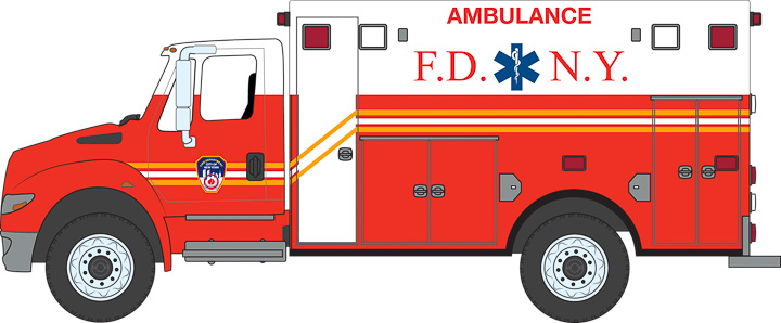 33070-C – 2013 International Durastar Ambulance – F.D.N.Y
