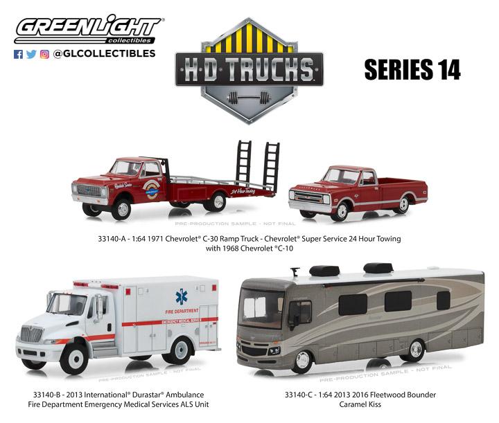 33140 - 1:64 H.D. Trucks Series 14