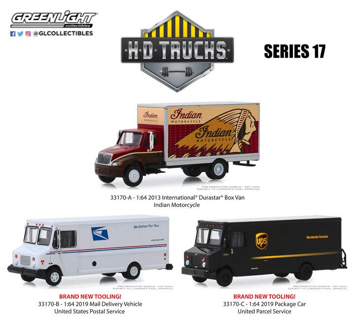 1:64 GreenLight *HD TRUCKS 12* ORANGE 1972 Chevrolet C-30 Ramp Truck w//68 IMPALA