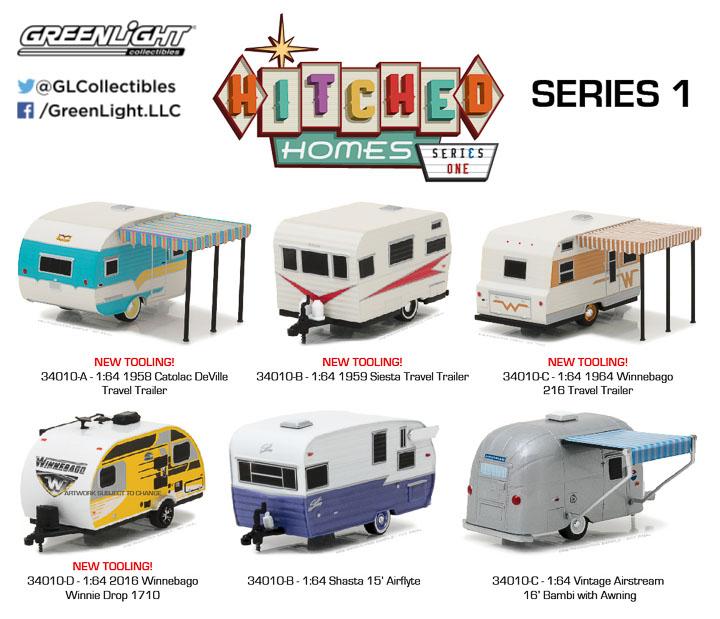 Winnebago Winnie Drop 1710  Wohnwagen  HITCHED Homes Serie two  Greenlight  1:64