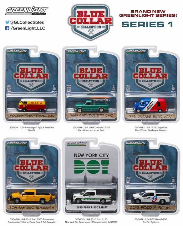 35040 - 1:64 Blue Collar Collection Series 1