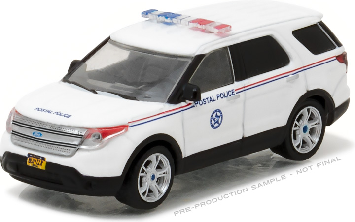 35060-D - 1:64 Blue Collar Collection Series 2 - 2014 Ford Explorer United States Postal Service (USPS) Postal Police