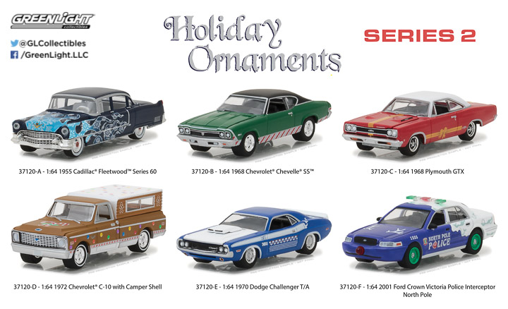 37120 - 1:64 GreenLight Holiday Ornaments Series 2