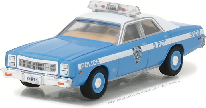42810-B - 1:64 Hot Pursuit Series 24 - 1977 Plymouth Fury - New York City Police Dept (NYPD)
