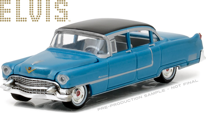 44760-A - 1:64 Hollywood Series 16 - Elvis Presley (1935-77) - 1955 Cadillac Fleetwood Series 60 Blue Cadillac