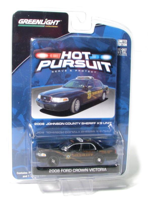 Item #50773 – 1:64 Ford Crown Victoria – # 198 for Johnson County, K-9 Unit