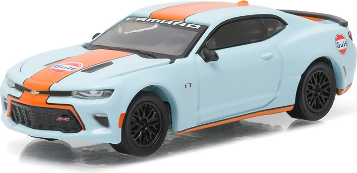 51059 - 1:64 2016 Chevy Camaro Gulf Oil - 2016 Chevy Camaro Gulf Oil