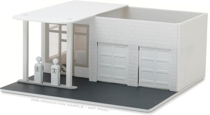1:64 Mechanic's Corner - Vintage Gas Station - Plain White