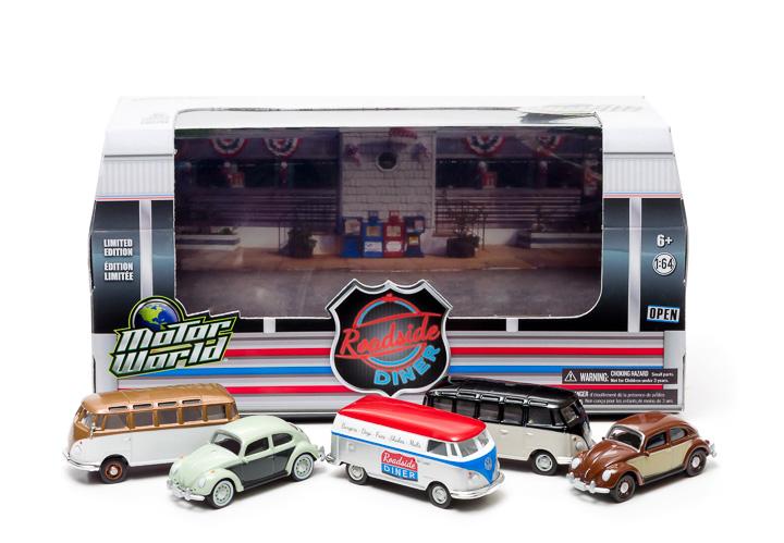 1:64 MotorWorld Diorama - Volkswagen 60's Roadside Diner
