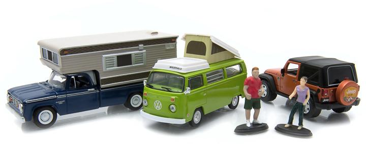 1:64 MotorWorld Diorama - Campsite Cruisers
