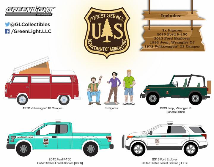 1:64 MotorWorld Diorama - Campsite Cruisers United States Forest Service (USFS) Edition