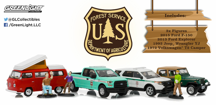 1:64 MotorWorld Diorama - Campsite Cruisers United States Forest Service (USFS) Edition