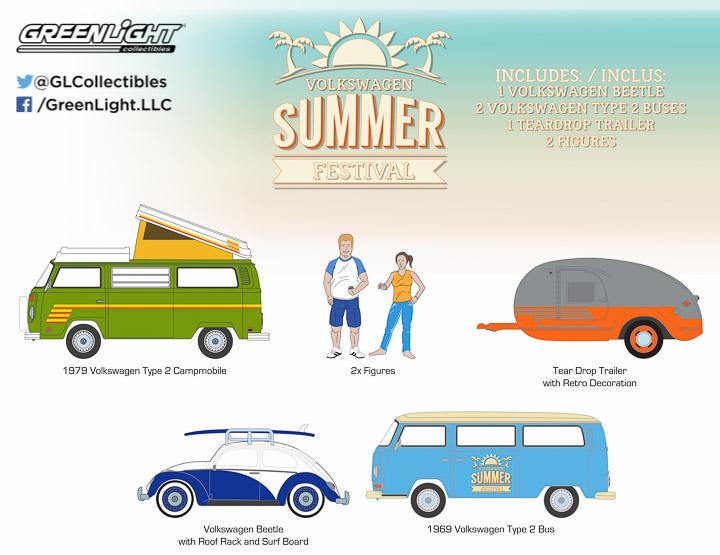 1:64 MotorWorld Diorama - Volkswagen Summer Festival