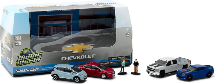 1:64 Motor World Multi-Car Dioramas - Modern Chevrolet Dealership