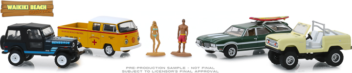 58050 - 1:64 Multi-Car Dioramas - Waikiki Beach Summer Bash