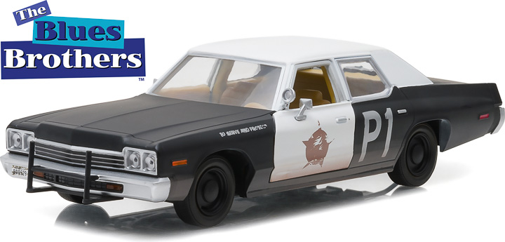 Item #84011 - 1:24 Blues Brothers –  1974 Dodge Monaco Bluesmobile