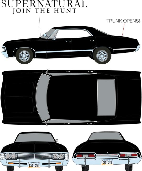 84032 - 1:24 Supernatural (2005-Current TV Series) - 1967 Chevrolet Impala Sport Sedan