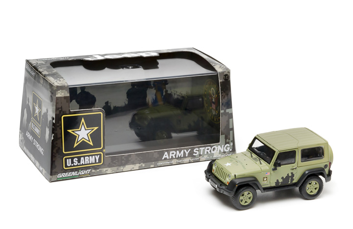 1:43 2012 Jeep Wrangler - US Army