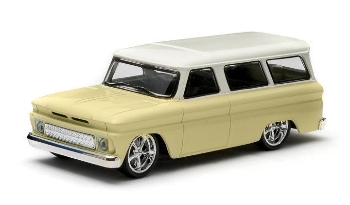 1:43 1966 Chevy Suburban – Yellow with White Roof - New Tooling