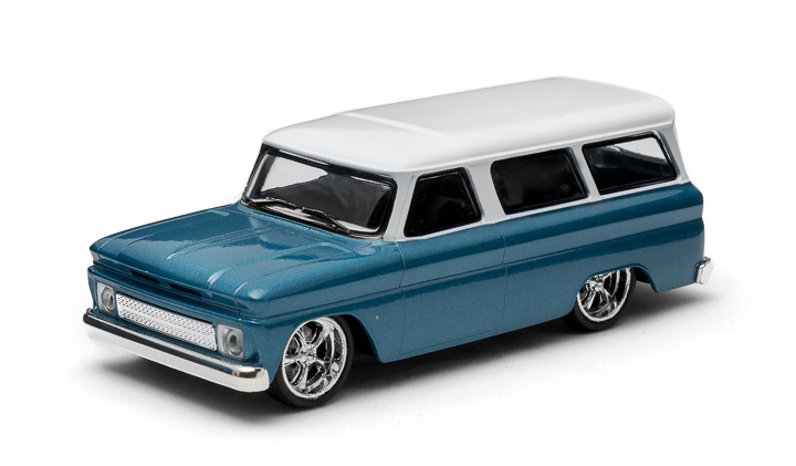 1:43 1966 Chevy Suburban – Blue with White Roof - New Tooling