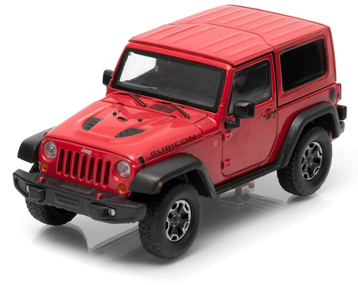 1:43 2014 Jeep Wrangler Rubicon X - Flame Red Clear Coat