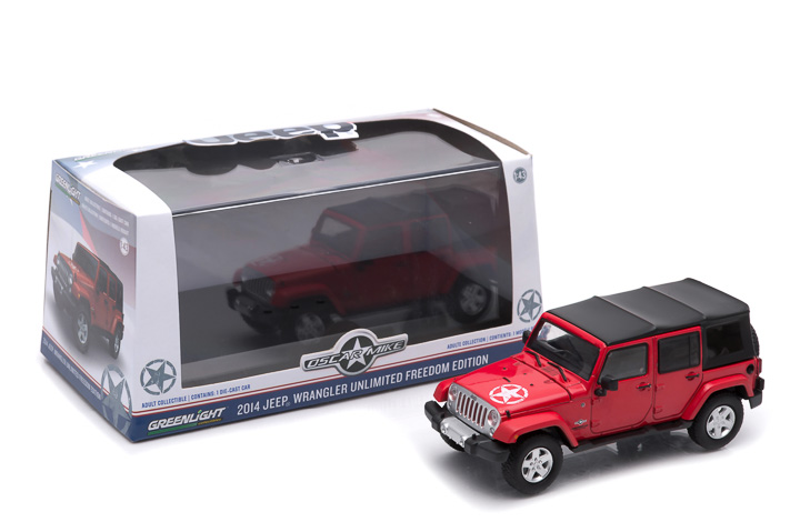 1:43 - 2014 Jeep Wrangler Unlimited - Freedom Edition (Soft Top) – Flame Red