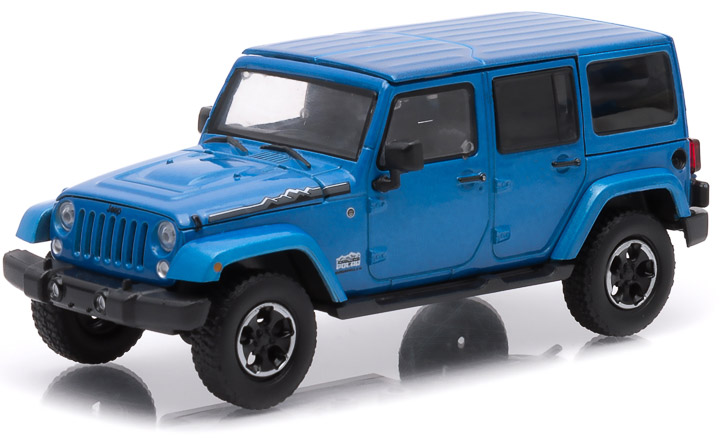 1:43 - 2014 Jeep Wrangler Unlimited - Polar Edition (Hard Top) – Hydro Blue