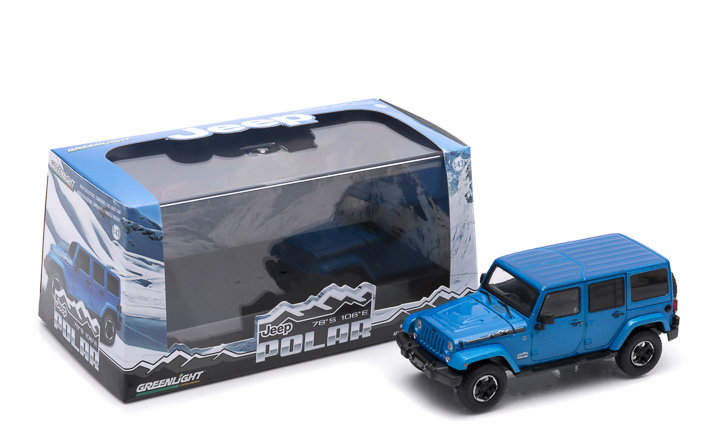 1:43 - 2014 Jeep Wrangler Unlimited - Polar Edition (Hard Top) – Hydro Blue