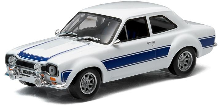 1:43 1974 Ford Escort RS 2000 MkI - White with Blue Stripes
