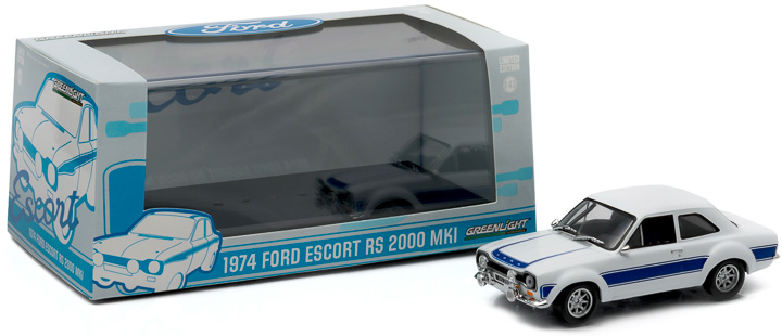 1:43 1974 Ford Escort RS 2000 MkI - White with Blue Stripes
