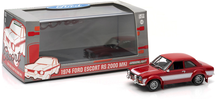 1:43 1974 Ford Escort RS 2000 MkI - Red with White Stripes