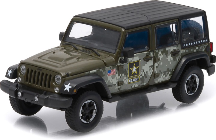 1:43 2014 Jeep Wrangler Unlimited - U.S. Army (Hard Top, Dark Green)
