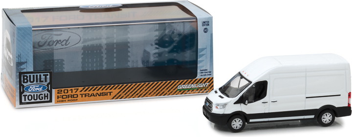 86083 - 1:43 2017 Ford Transit Extended Van High Roof - Oxford White