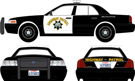 86086 - 1:43 2008 Ford Crown Victoria Police Interceptor California Highway Patrol - 2008 Ford Crown Victoria Police Interceptor California Highway Patrol