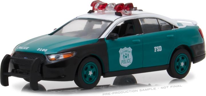 86094 - 1:43 2014 Ford Police Interceptor Sedan - New York City Police Department (NYPD) Vintage Show Vehicle