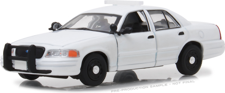86095 - 1:43 1998-2012 Ford Crown Victoria Police Interceptor - Plain White