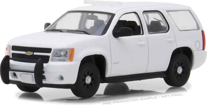 86096 - 1:43 2010-2012 Chevy Tahoe Police - Plain White