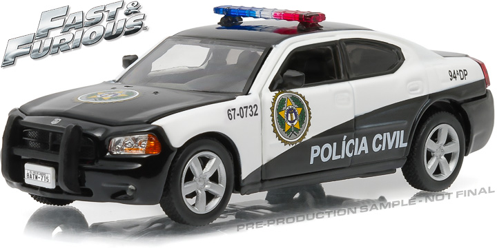 "86237 - 1:43 Fast & Furious - 2006 Dodge Charger Rio Police ""Policia Civil"