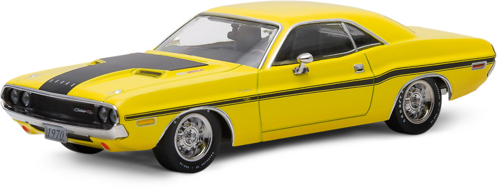 1970 Dodge Challenger R/T - Yellow with Black Stripes