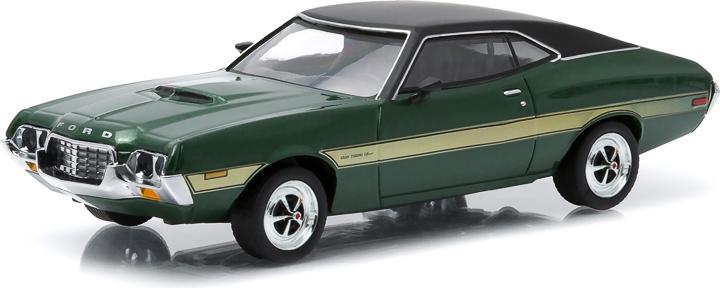 1972 Gran Torino Sport - Green with Yellow Stripes