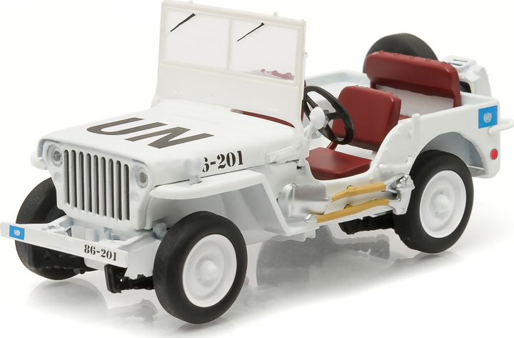 86308 - 1:43 GreenLight Exclusives Jeep Willys (United Nations decoration)