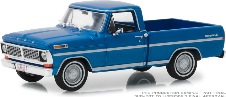 86317 - 1:43 1970 Ford F-100 - Acapulco Blue Metallic